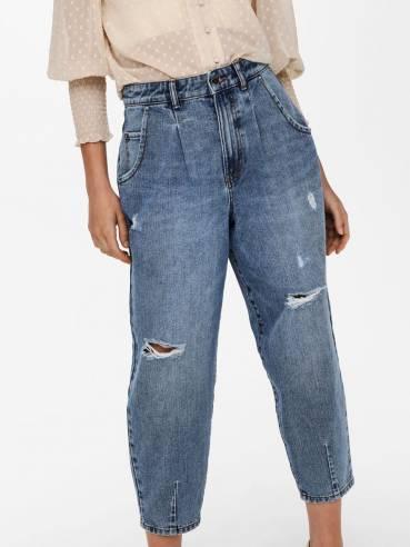 Jeans de tiro alto y bombacho - Only - Uesti