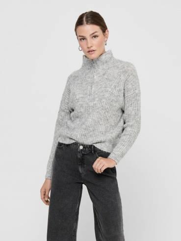 Jersey de punto de cuello alto y cremallera - Mujer - UESTI