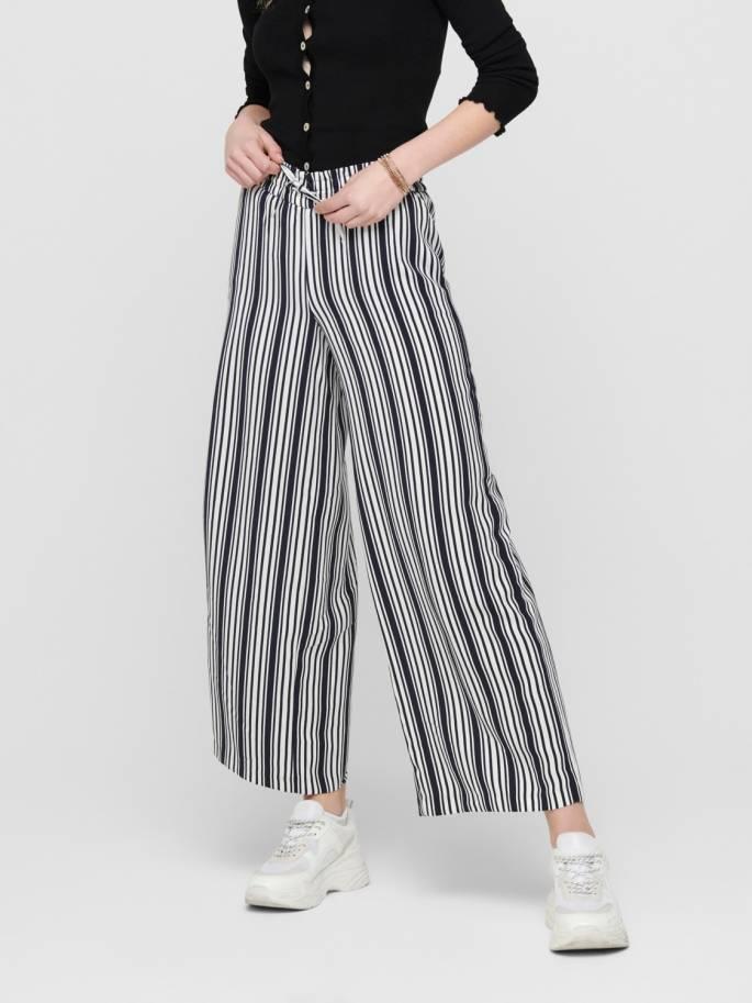 Pantalones de rayas de corte holgado - Only - 15191504