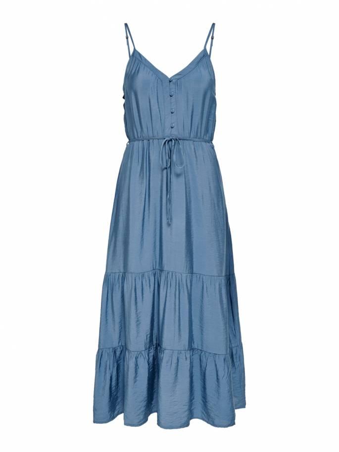 Vestido largo de corte holgado - Mujer - Uesti
