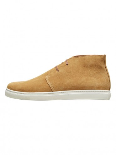 SUEDE SHOES - OCRE