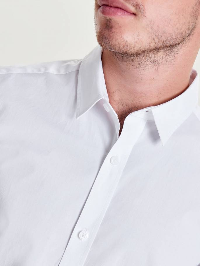 7d68ad647 Extra slim camisa de manga larga unicolor - UESTI