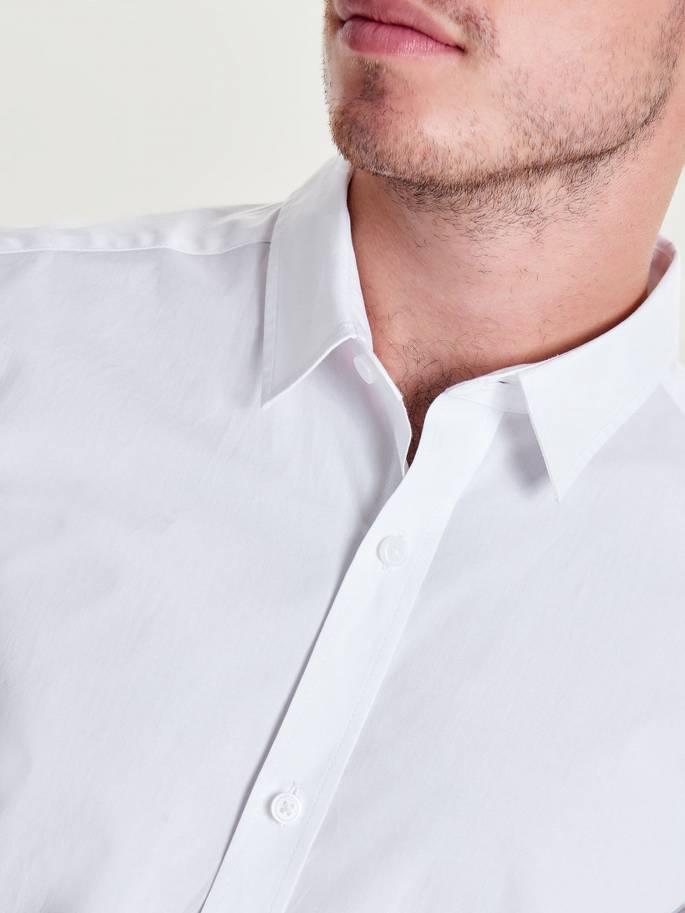 f30f63527 Extra slim camisa de manga larga unicolor - UESTI