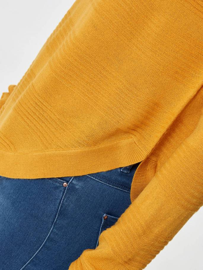 Jersey básico de punto liso amarillo - Only - 15141866 - UESTI