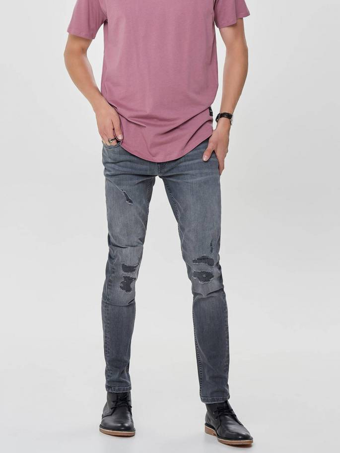 JEANS DE CORTE SPUN - SLIM FIT - only and sons - 22010440