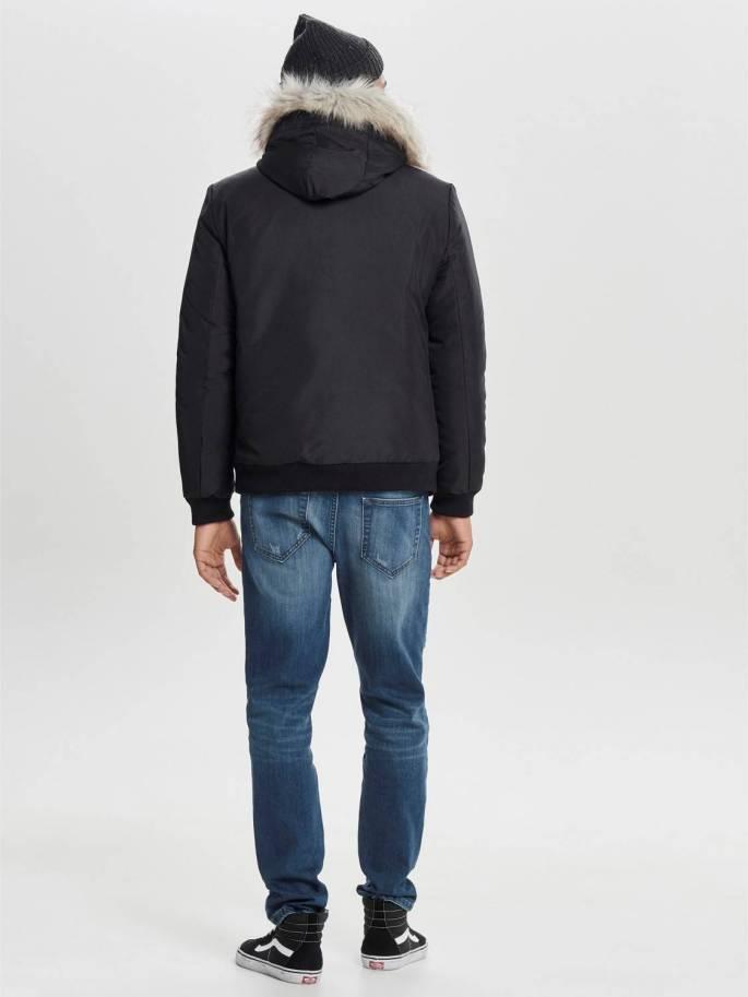 30cf2475894 Con pelo en la capucha chaqueta corta - Only and sons - 22010828