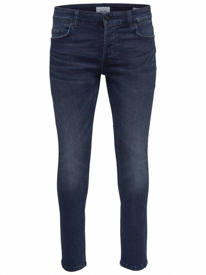 4113aef8f Jeans slim tapered fit azul oscuro - Only and sons - 22011457