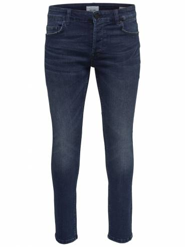 Jeans slim tapered fit azul oscuro - Only and sons - 22011457