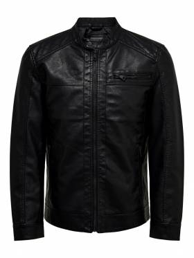 Chaqueta biker de polipiel - ONLY AND SONS - 22011975