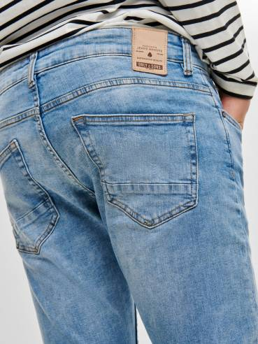Spun jeans slim tapered fit azul claro - Only and sons - 22012049