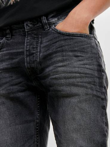 Weft jeans regular fit gris - Only and sons - 22012040