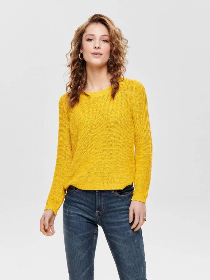 Geena Jersey de punto liso amarillo - Only - 15113356