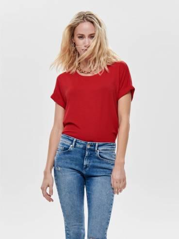 Moster camiseta de corte holgado roja - Only - 15106662