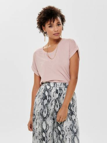 Moster camiseta de corte holgado rosa palo - Only - 15106662