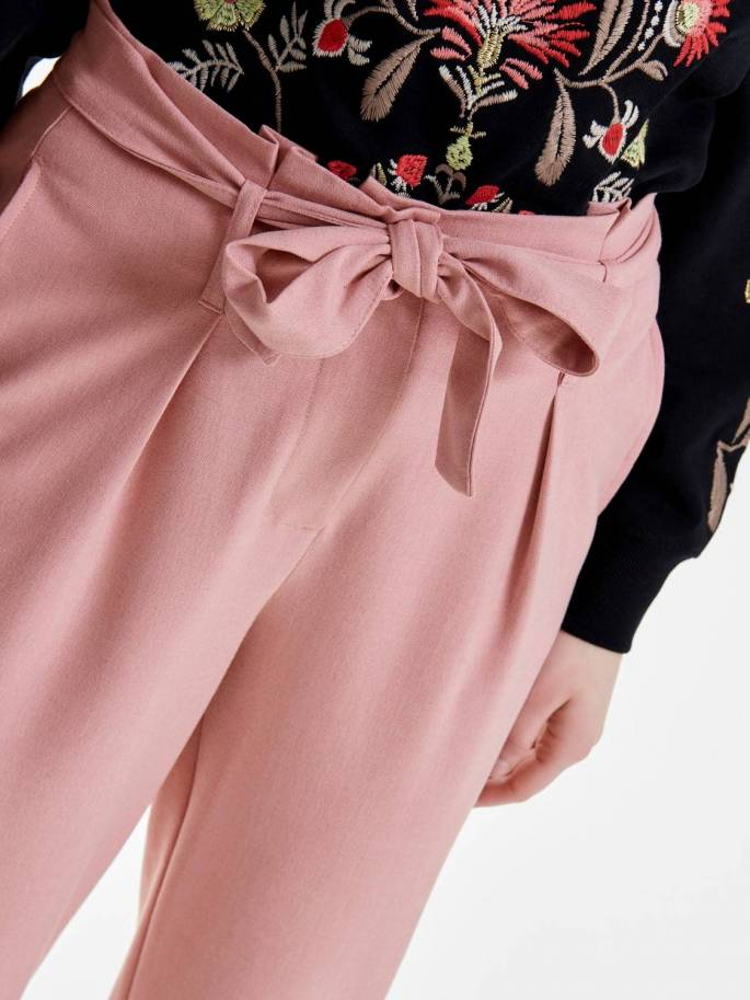 Nicole Pantalón tipo Paperbag rosa - Only - 15160446 - Uesti