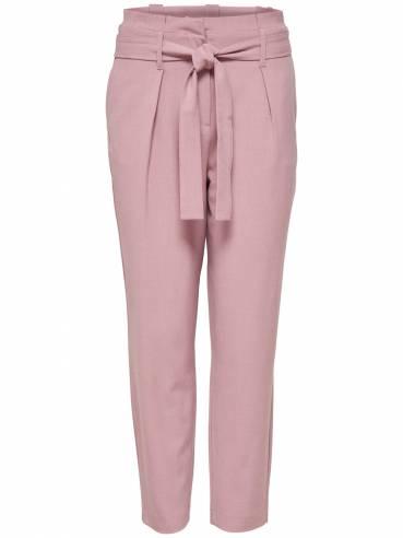 Nicole Pantalón tipo Paperbag rosa - Only - 15160446 - Uesti