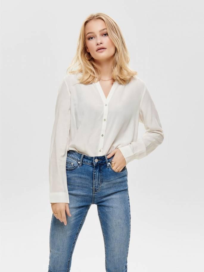9a5836da8cf Sugar Camisa blanca de Corte Holgado - Mujer - Uesti