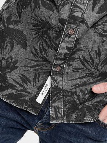 Theo de manga larga camisa estampada - Only&Sons - 22012337 - Uesti