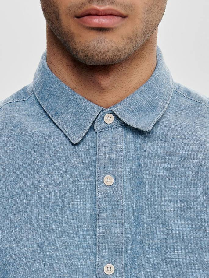 Ted camisa tipo indigo slim - Only and sons - 22012324 - Uesti