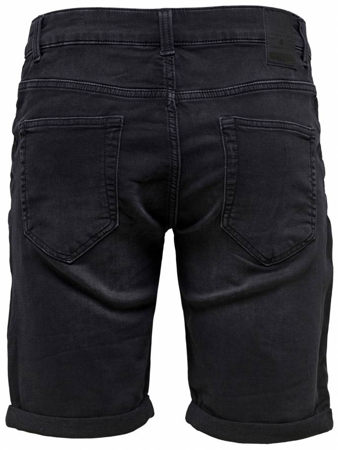 Ply black shorts vaqueros cortos - Only and sons - 22012021 - Uesti