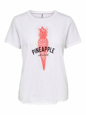 Banja camiseta con estampado de piña y helado - ONLY - Uesti