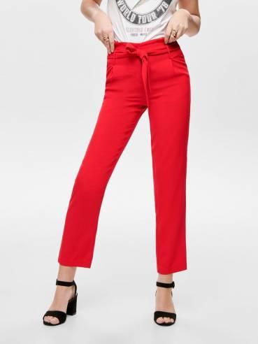 Runa Pantalón de tipo Paperbag rojo- ONLY - 15172777