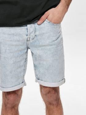 Ply pantalones cortos vaqueros claro de hombre - Only and sons - Uesti