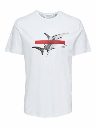 Camiseta con estampado de tiburón martillo - Only and sons - 22013007 - Uesti