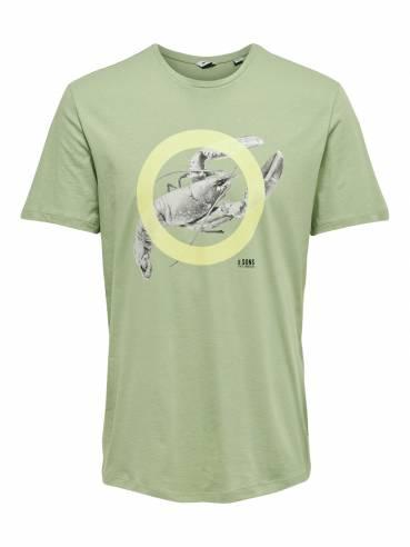 Camiseta con estampado de bogavante - Only and sons - 22013007 - Uesti