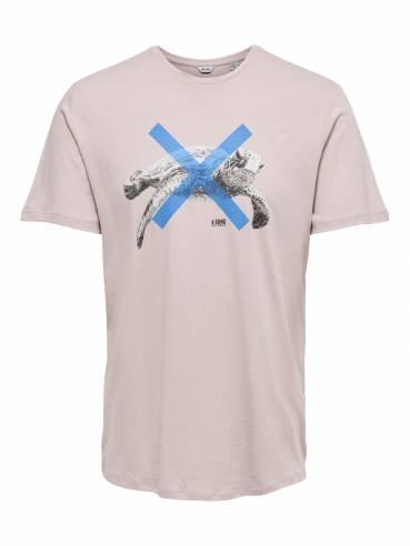 Camiseta con estampado de tortuga - Only and sons - 22013007 - Uesti