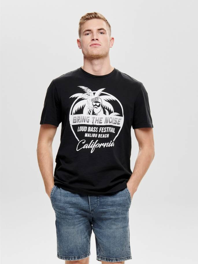 Camiseta con estampado de surfero - 22013138 - Uesti