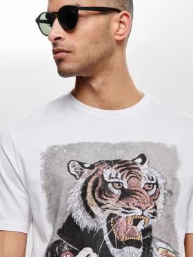 Camiseta con estampado de tigre - 22012566 - Uesti