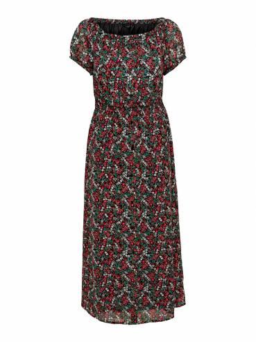 Vestido largo con estampado de flores - Only - 15178876 - Uesti