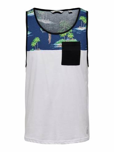 Camiseta de tirantes con estampado de loros - Uesti