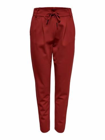 Poptrash pantalones lisos de color holgado rojos - Only - 15115847 - Uesti