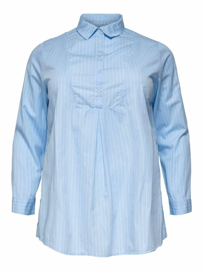 Camisa curvy de manga larga de rayas - Only carmakoma - 15177616 - Uesti