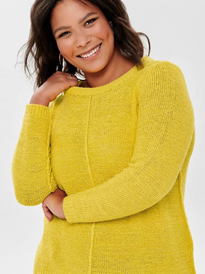 Jersey amarillo de tallas grandes para mujer - Uesti