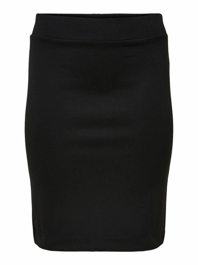 Falda entallada negra de tallas grandes para mujer - Uesti