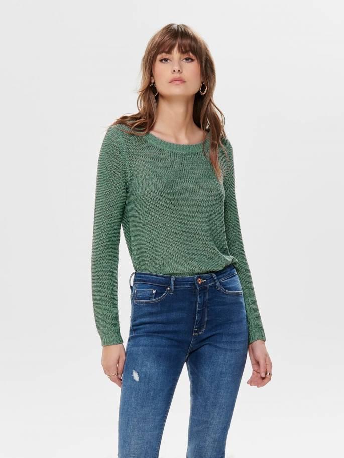 Geena Jersey de punto liso verde agua - Only - 15113356 - Uesti