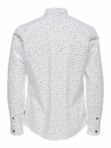 Con estampado de bichos camisa slim - Only and sons - 22012322 - Uesti
