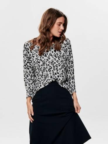 Elcos jersey con estampado de leopardo de corte holgado - Only - Uesti