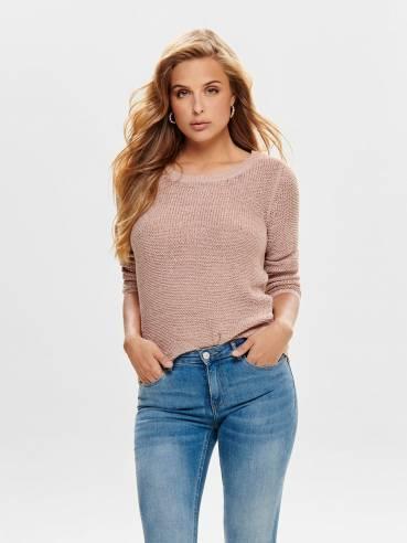Geena Jersey de punto liso rosa claro - Only - 15113356 - Uesti