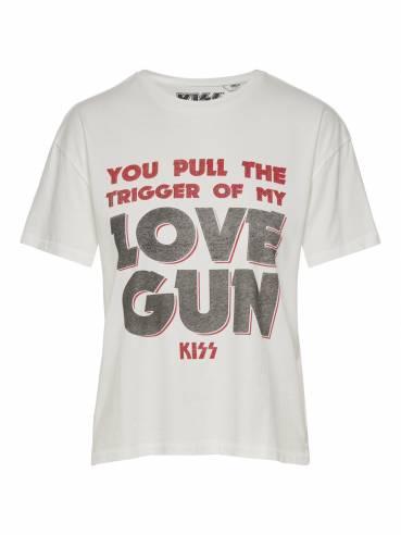 Camiseta kiss con estampado you pull the trigger of my love gun - Uesti