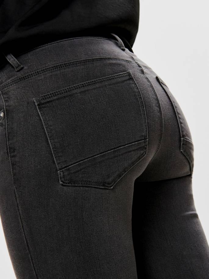 Kendell jeans skinny fit con cremmallera en los tobillos grises - Only - Uesti