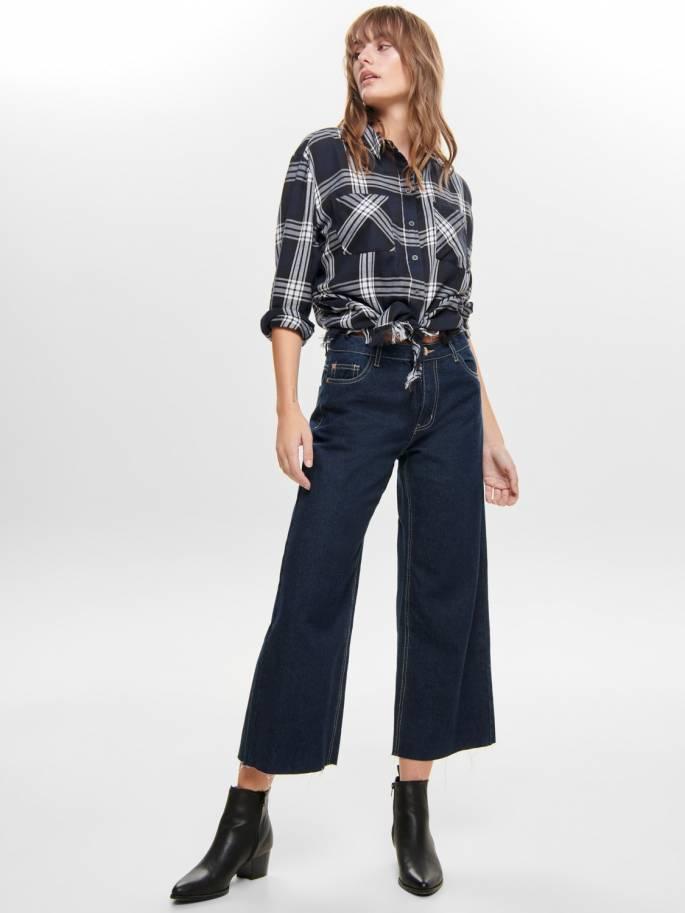 Jeans de tiro alto y pierna ancha - Only - Uesti