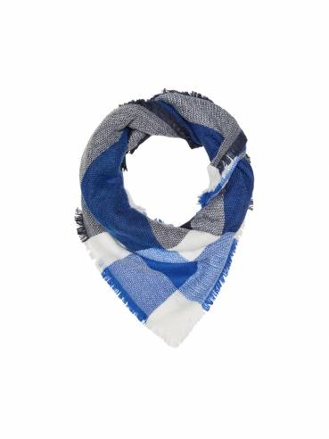 Bufanda de cuadros en tonos azules y blancos - Uesti