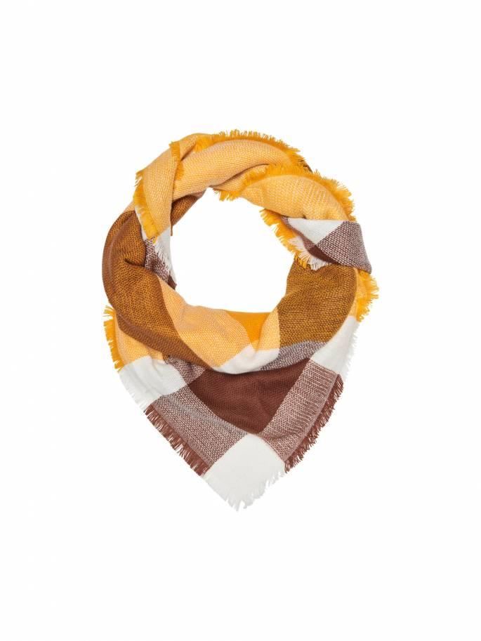 Bufanda de cuadros en tonos amarillos y marrones - Uesti