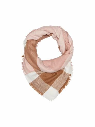 Bufanda de cuadros en tonos rosas y marrones - Uesti