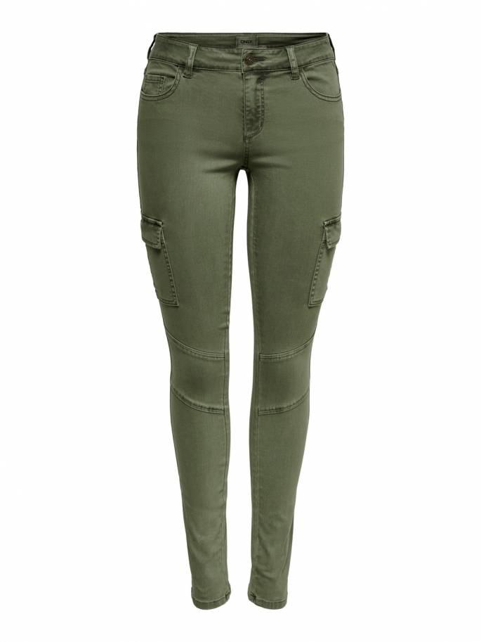 Pantalones de tipo cargo en color verde - Only - 15191692 - Uesti