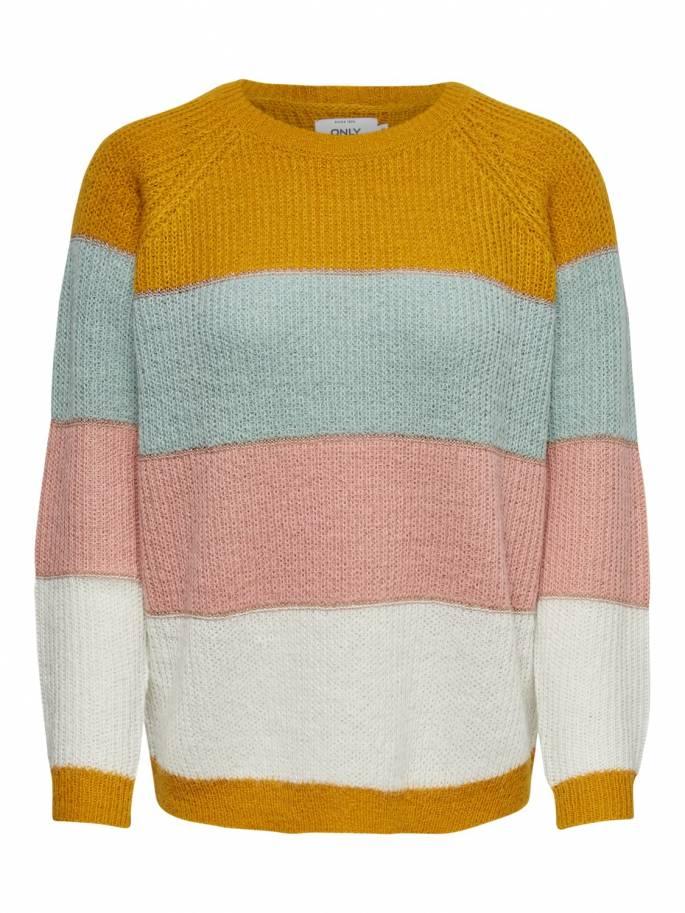 Jersey de punto a rayas con colores en contraste - Only - 15182152